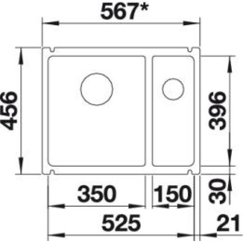 blanco subline 350 150 u blanco subline 350 150 u. Black Bedroom Furniture Sets. Home Design Ideas